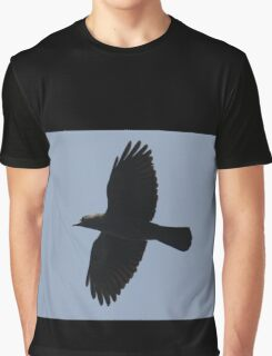 Jackdaw In Flight Graphic T-Shirt