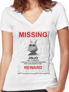 Missing Jinjo Women's Fitted V-Neck T-Shirt