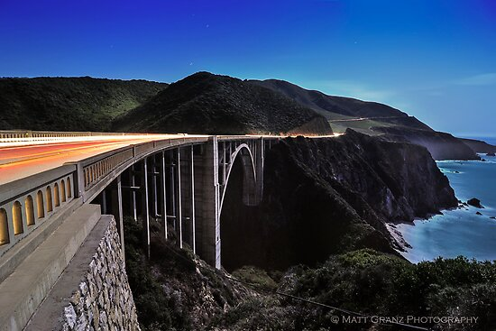 Light Trails over the Bixby Bridge by MattGranz