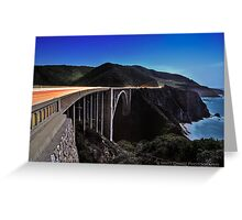Light Trails over the Bixby Bridge Greeting Card