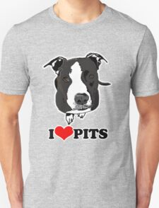 I Love Pit Bulls Unisex T-Shirt