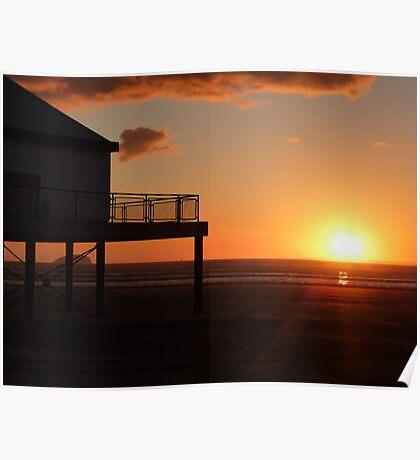 SeaQuarium sunset Poster