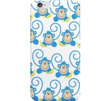 Blue Silly Monkeys Case iPhone Case/Skin
