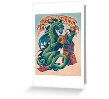 Book Wyrm Greeting Card