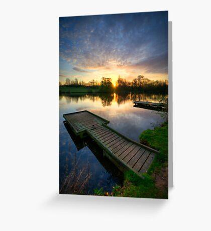 Jetty Sunrise 3.0 Greeting Card