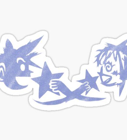 Kingdom Hearts - Sora and Kairi Chalk Drawing Sticker
