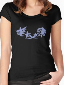 Kingdom Hearts - Sora and Kairi Chalk Drawing Women's Fitted Scoop T-Shirt