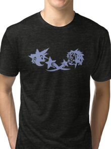 Kingdom Hearts - Sora and Kairi Chalk Drawing Tri-blend T-Shirt