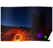 Fire wool and leds Poster