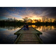 Sunrise Lovers By The Lake Photographic Print