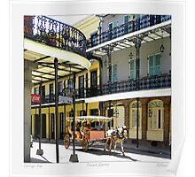 French Quarter Carraige Ride Poster