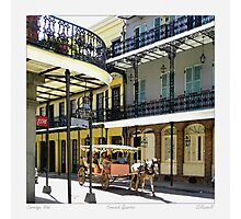 French Quarter Carraige Ride Photographic Print
