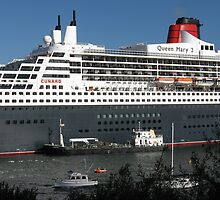 Queen Mary 2 in Sydney by Stan Owen