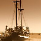Jolly Roger in Paphos Harbour, Cyprus by Stan Owen