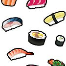 New Sushi Stickers by thickblackoutline
