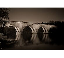 Fredericksburg Train Bridge Photographic Print