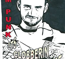 CM Punk Clobberin Time Comic Book Artwork by chrisjh2210