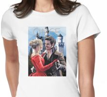 Captain Swan Fairy Tale Watercolor Design 2 Womens Fitted T-Shirt