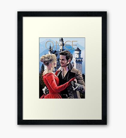Captain Swan Fairy Tale Watercolor Design 2 Framed Print