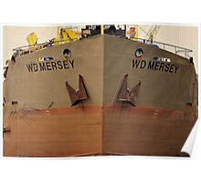 Bow Shot WD Mersey. Poster