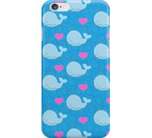 Little Blue Whales and Hearts Case iPhone Case/Skin