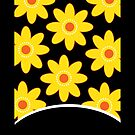 Yellow and Black Daisy Case by JessDesigns
