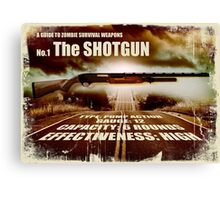 Zombie Weapons - The Shotgun Canvas Print
