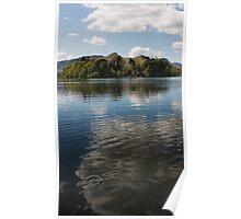 Derwent Water Cloud Reflection Poster