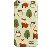 Fox, Owl and Tree Woodland Case iPhone Case/Skin