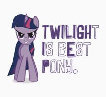 Twilight is best pony. by DerpyDash98