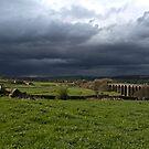 Rain over Hewenden Viaduct by Michael Upshon