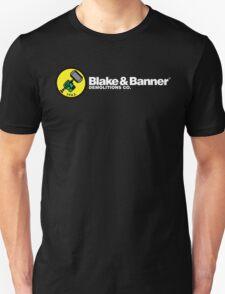 Blake & Banner Demolitions Co. (White Text) Unisex T-Shirt