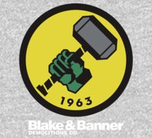 Blake & Banner Demolitions Co. (Big Logo White Text) One Piece - Short Sleeve