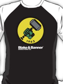 Blake & Banner Demolitions Co. (Big Logo White Text) T-Shirt