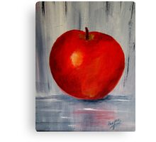 AN APPLE A DAY- Acrylic painting Canvas Print