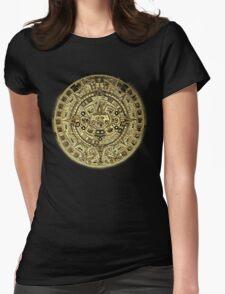 ©HS Aztec Sun Calendar I Womens Fitted T-Shirt