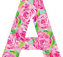 """A"" Rose Letter by emmytyga"