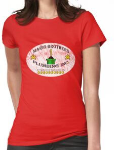 Mario Brothers Plumbing Inc Womens Fitted T-Shirt