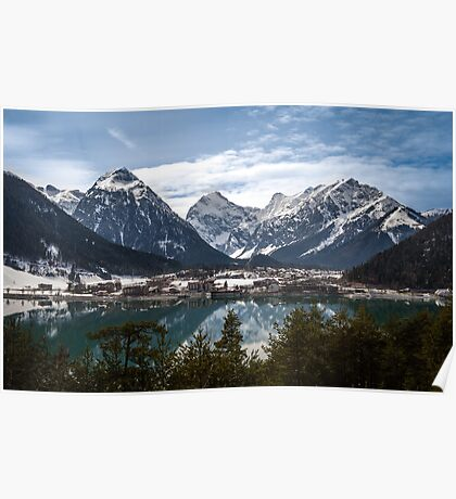Aachensee and the Alps Poster