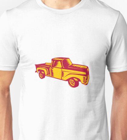Vintage Pick Up Truck Woodcut Unisex T-Shirt