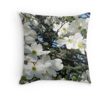 Spring flowers in New York City  Throw Pillow