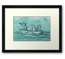Paper Boat Adventures Framed Print