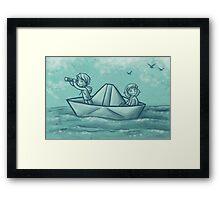 Paper Boat Adventures Framed Print