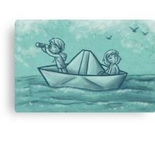 Paper Boat Adventures Canvas Print