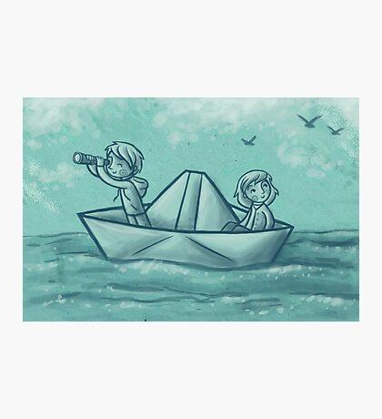 Paper Boat Adventures Photographic Print