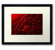 Bubbling Jello Framed Print