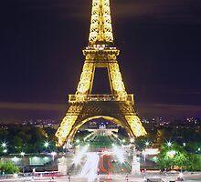 The Eiffel Tower from Esplanade du Trocadero by David Mace-Kaff