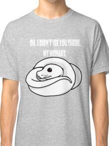 Misnake-White font. Classic T-Shirt
