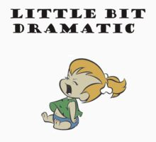 Little Bit Dramatic (Pebbles Flintstone) Kids Tee
