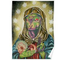 Blessed Reptilian Virgin and Child Poster